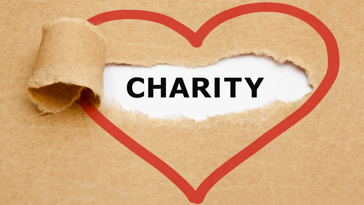 Charity and heart symbol