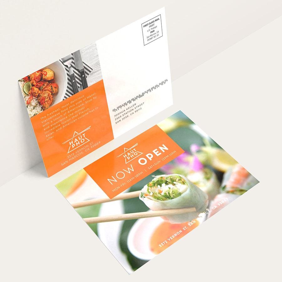 Restaurant postcard