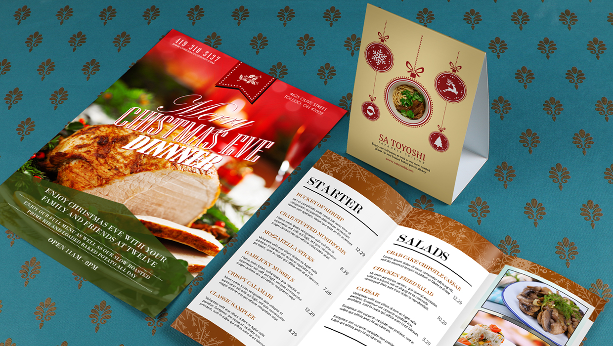 Print Materials for Restaurant Christmas Promotion Ideas