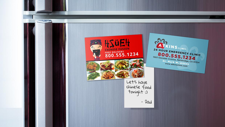 Restaurant magnets