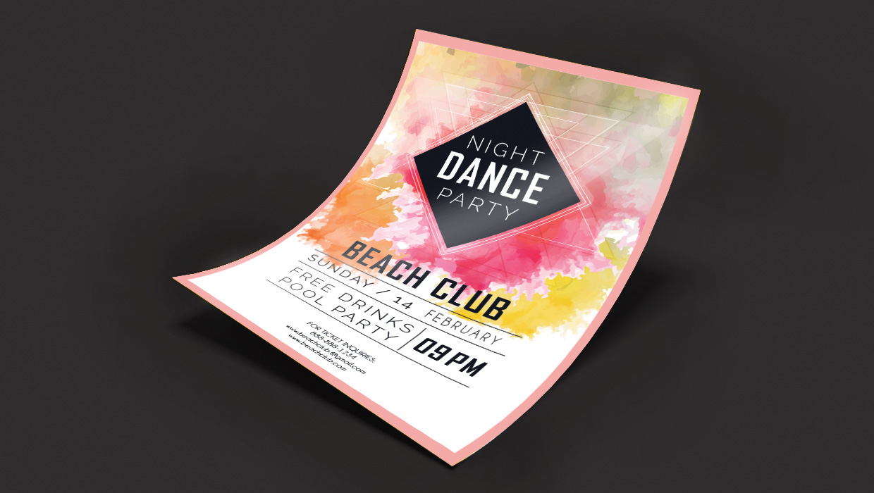 Club flyer font