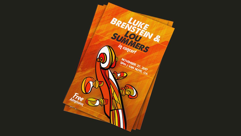 concert flyer font