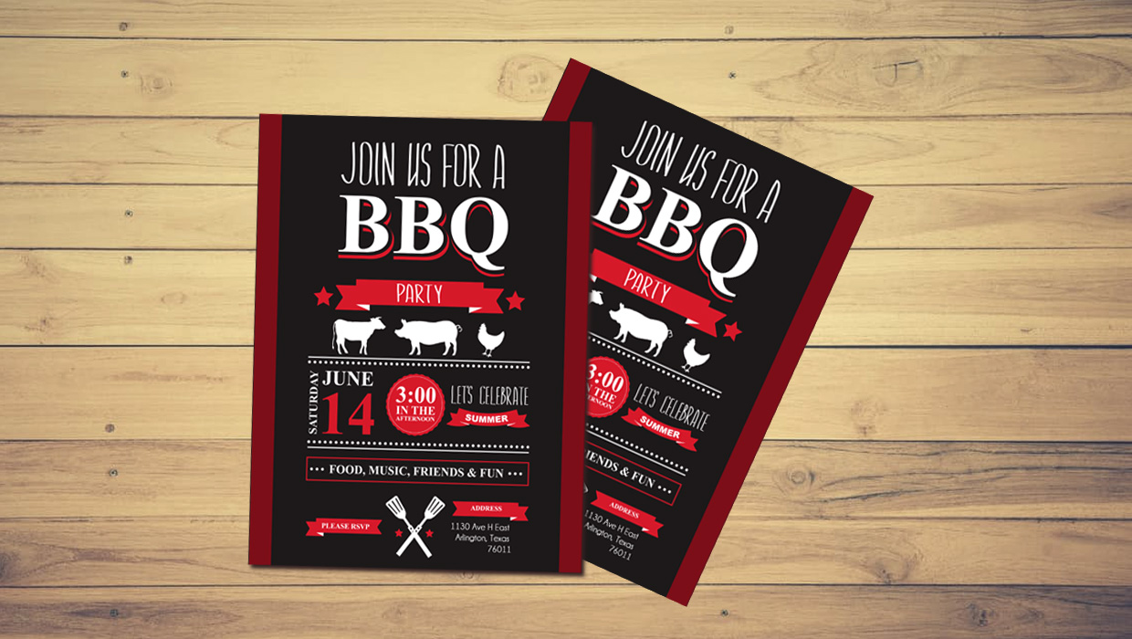 BBQ font on flyer
