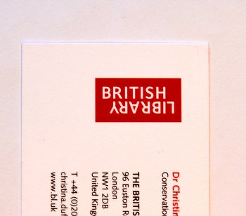 British Library - Business Card