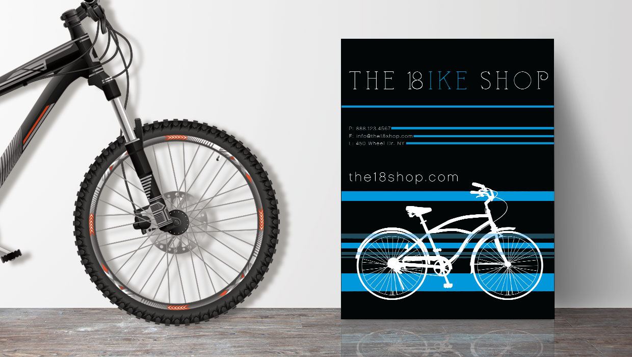The bike shop poster