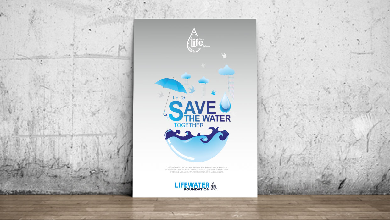 let's save water together