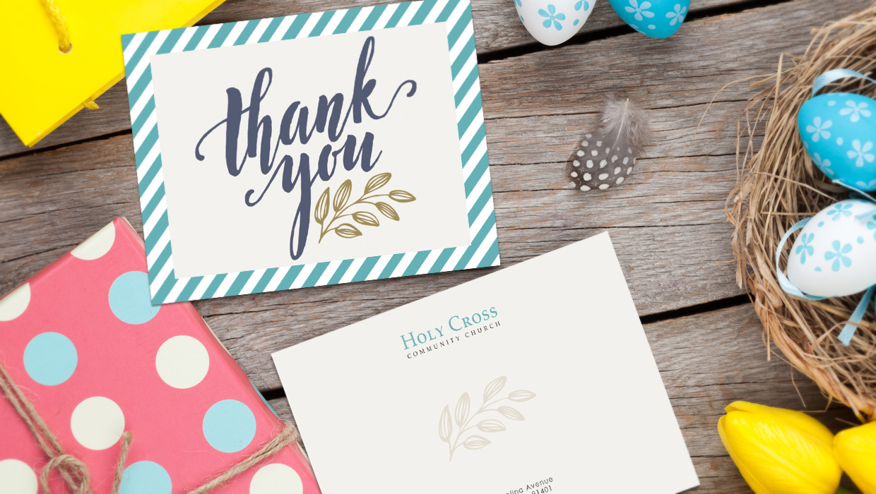 church thank you cards.