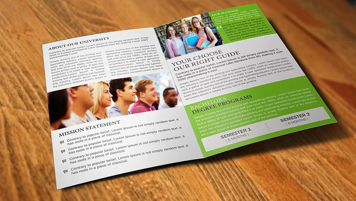 Printing educational brochures