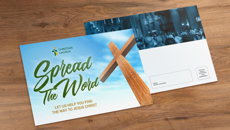 church postcard sample
