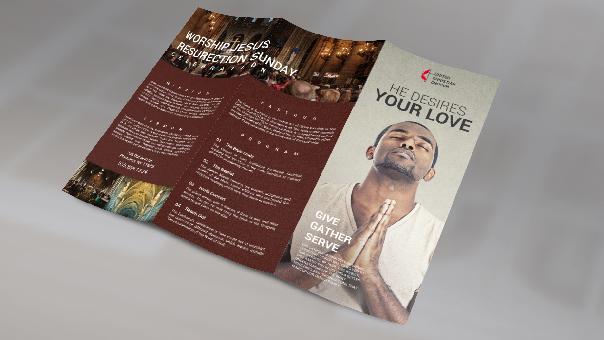 trifold church brochure