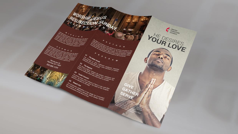 trifold church brochure
