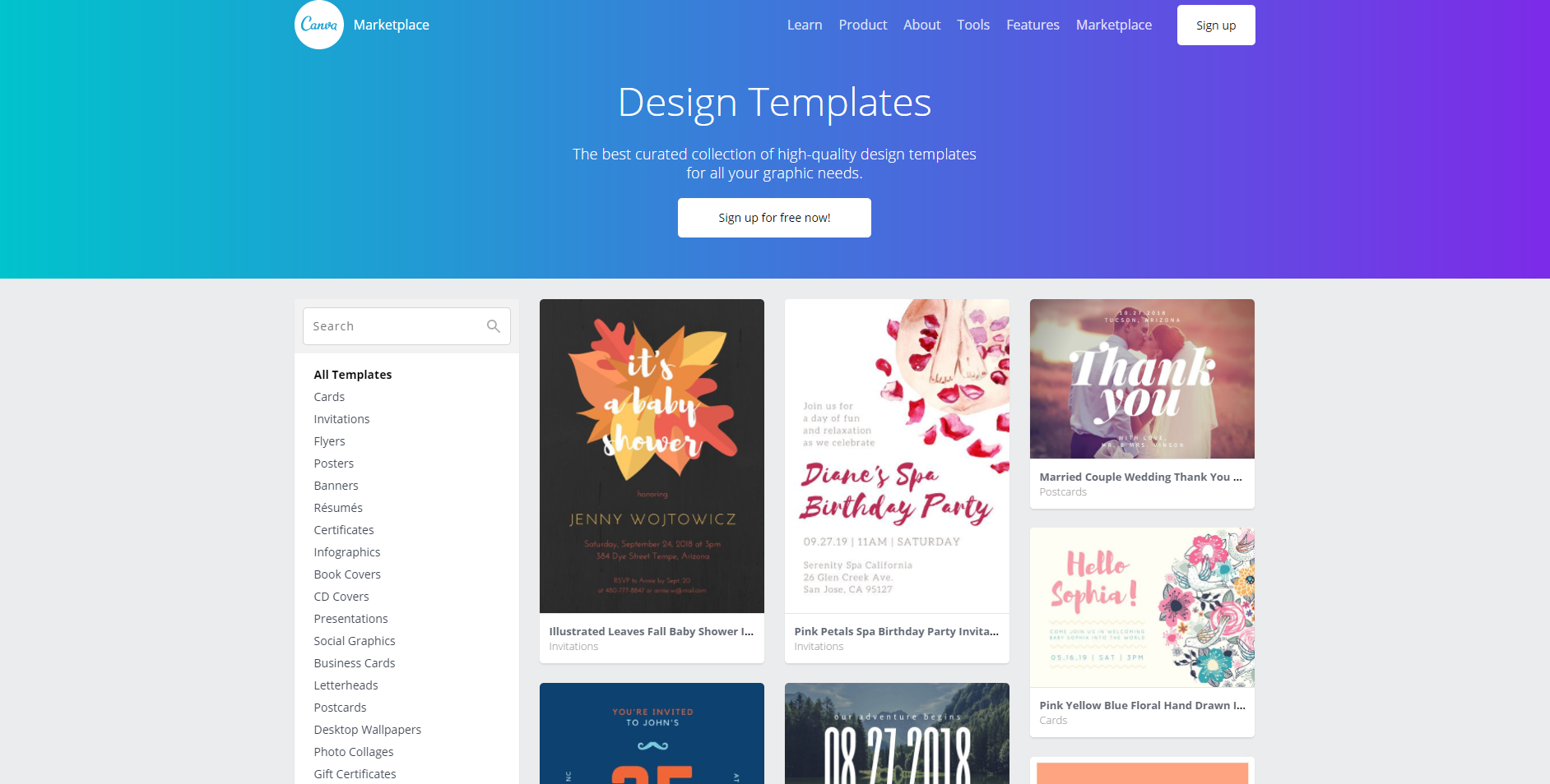 Canva design templates