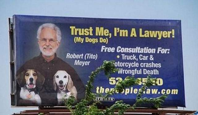 Tito Meyer, attorney-at-law billboard