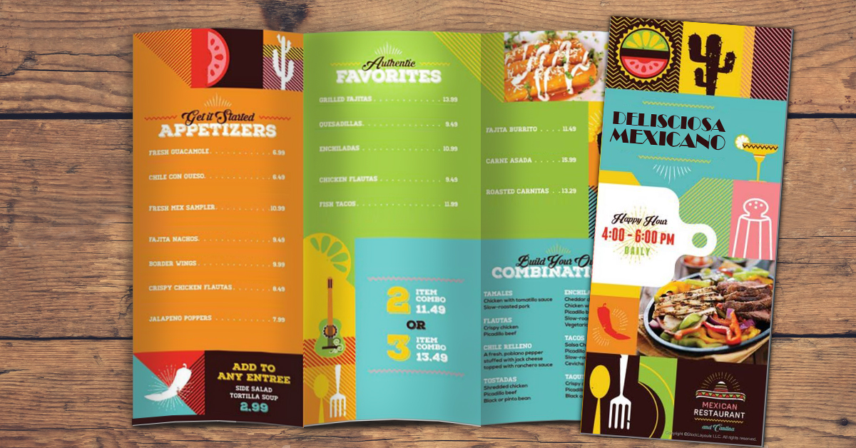 mexican restaurant menu example
