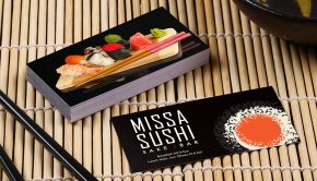 Business cards 101- sushi