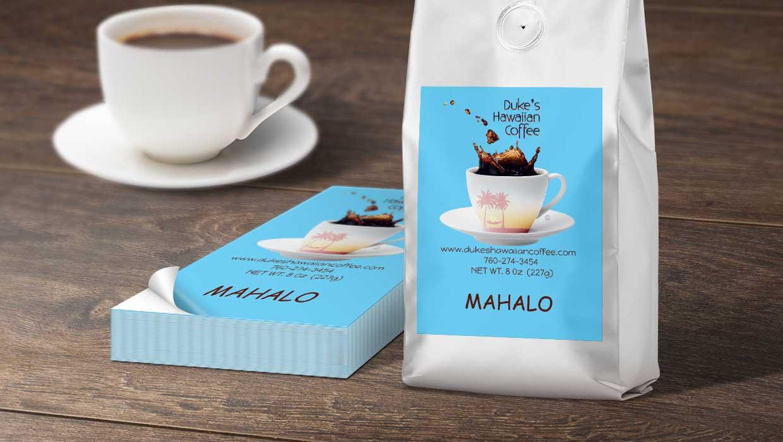 Duke's Hawaiian Coffee - label printing story