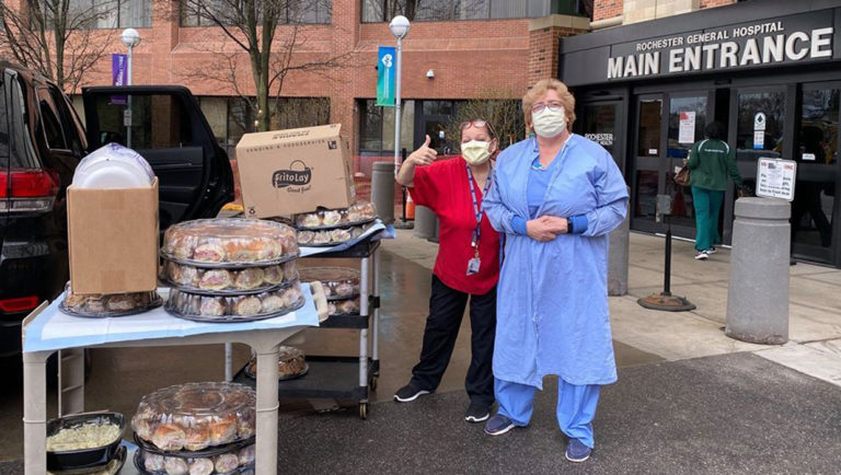 Dibella's Subs donates food to healthcare workers