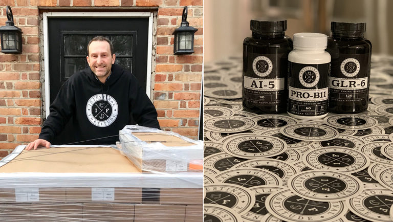 Intestinal Fortitude founder Will Jenkins with the company's first ever product delivery