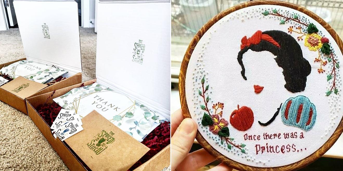 custom stickers the spriced stitch