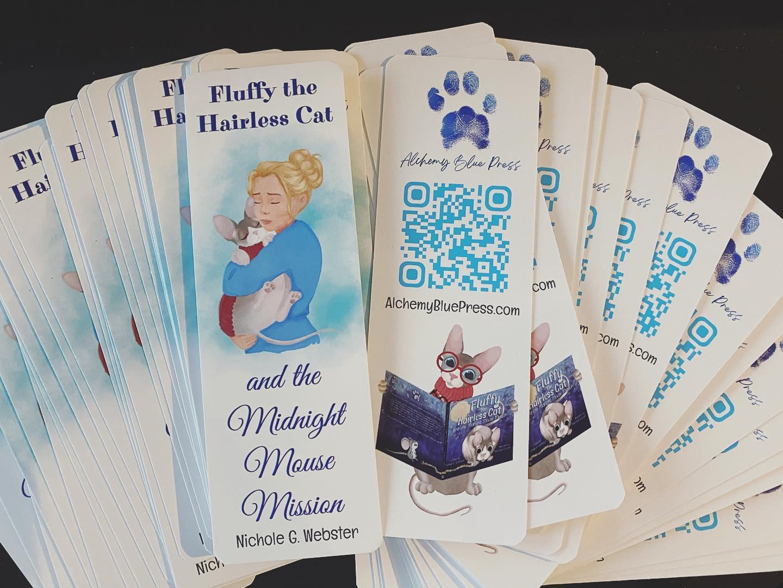 Fluffy the Hairless Cat custom bookmarks