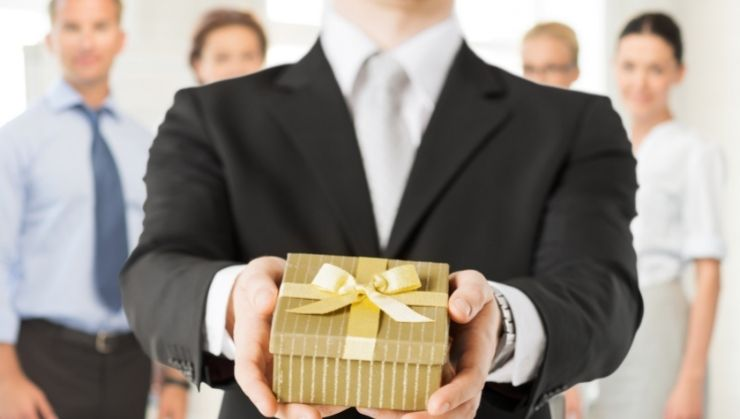 Corporate Gift in Gold Packaging