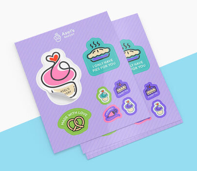 Sticker Sheets with Multiple Design