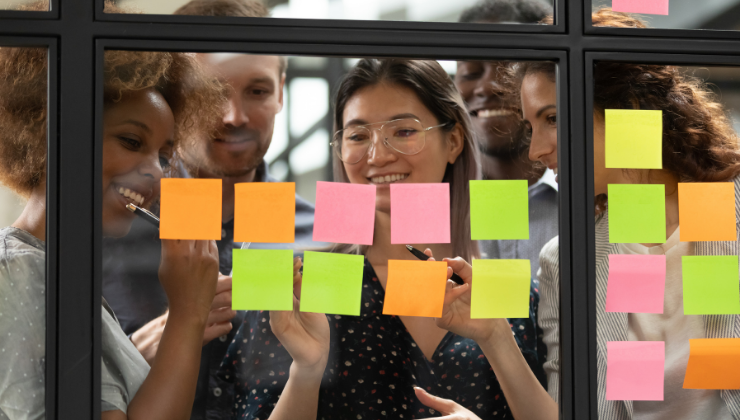 Marketing Team Planning a Sticker Campaign