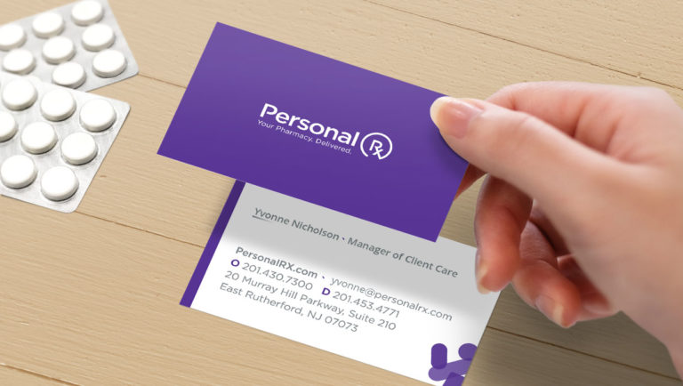 PersonalRX business card